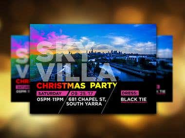 Design Invitation for SKY VILLA