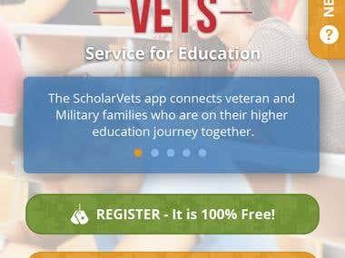 Scholarvets Ionic2 App