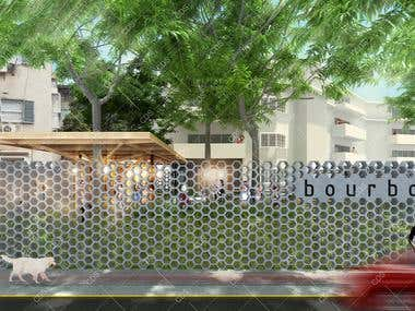 Outdoors Coffee Shop Design