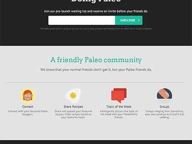 Pre-launch Website