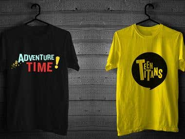 Adventure Time/Teen Titans Graphic Shirts
