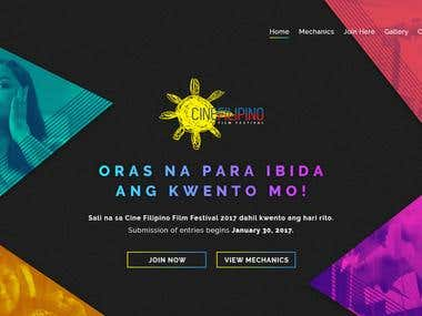 Cinefilipino Website Design