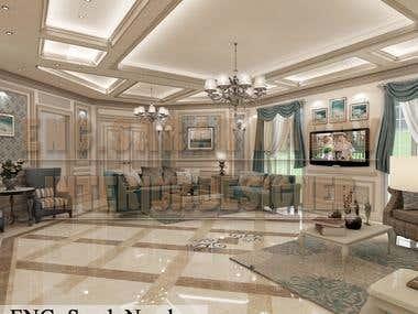 classic design of reception