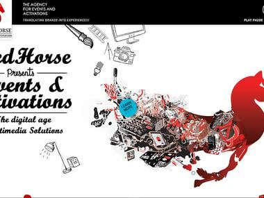 Red Horse Events & Activation Illustration/Photomanipulation