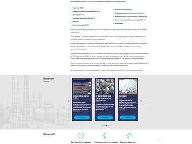 Web-site for private company