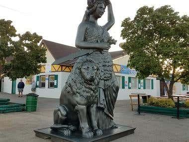 Bavaria statue zbrush modeling