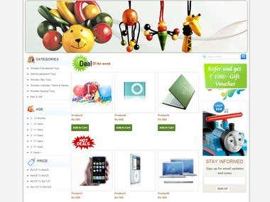 Designed & Developed for Onlywood(Magento)