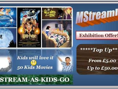 Top Up Design for Kid's Movies
