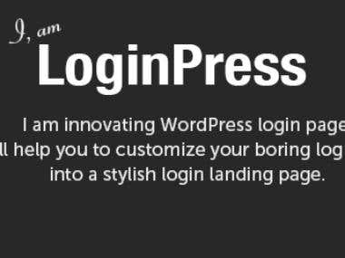 LoginPress - Commercial WordPress Plugin