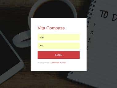 Vita Compass web responsive app