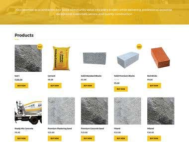 Develop website for construction company