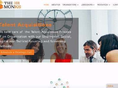 Wordpress Website with Live Job Board
