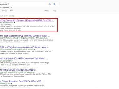 Google Top Ranking Website