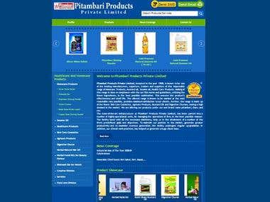 Pitambari.in ecom website