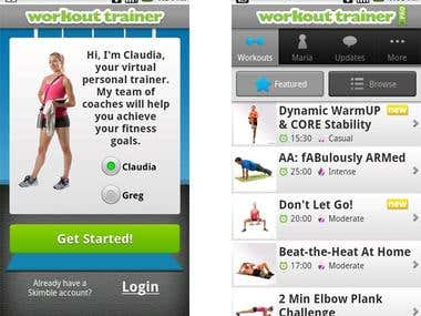 Fitness app for our