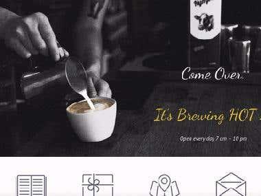 Wordpress Website For Cafe