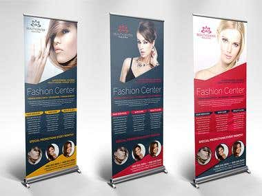 Roll up banner , Standee design