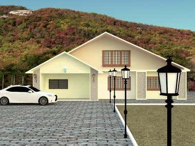 this project is house design and exterior.
