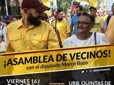 Assembly of neighbors - Deputy of the Venezuelan Parliament