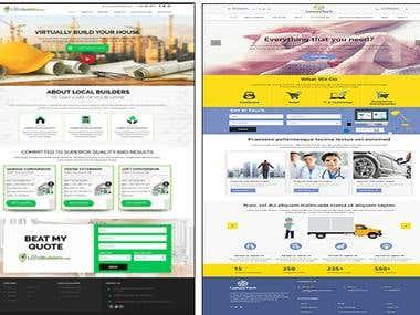Website UI design , landing design