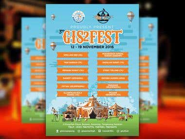 Design Brochure for Gis 2 Fest
