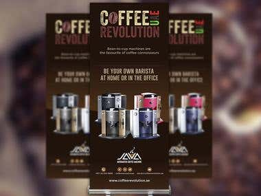 Design Banner for Coffee Revolution