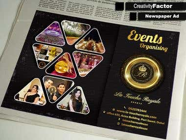 Newspaper ad design + mockup design