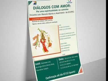 """E-flyer para encontro """"Diálogos com Amor"""""""