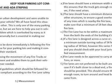 Article on the parking compliance in the United States