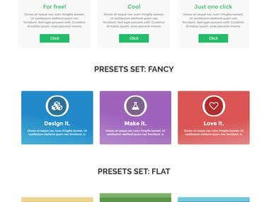 Websites elements for Themeforest market products