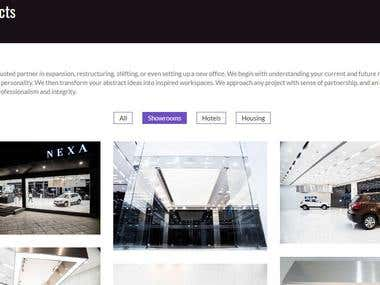 Portfolio Website - Interiors Design Agency