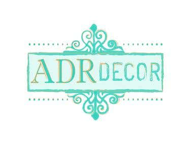 Logo for ADR decor company