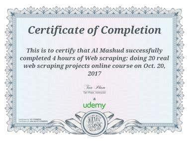 Certified python developer