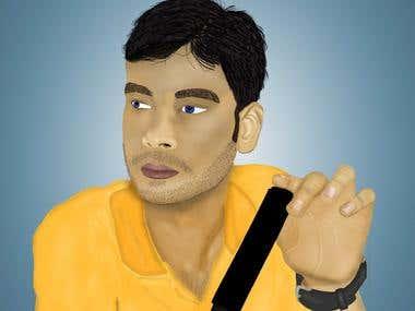 Vector Portrait art