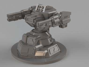 3D model of a battle robot for injection molding