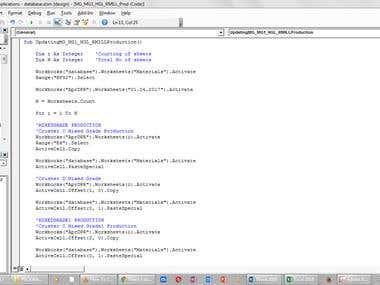 VBA codes for data entry