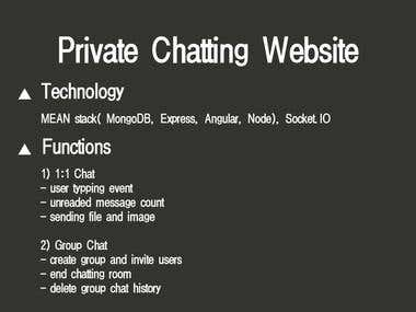 Node.js & angular.js & mongodb chatting site video
