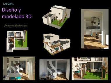 Proyecto diseño vivienda pequeña