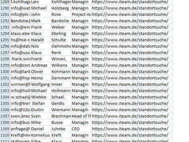 3600 leads in IT companies