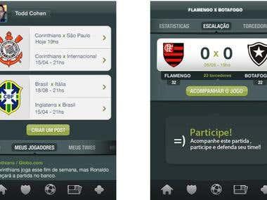 Social media application for soccer fans