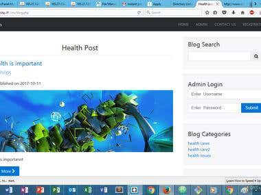 Content Management System(ongoing project)