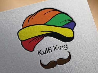 Logo for a brand Kulfi King