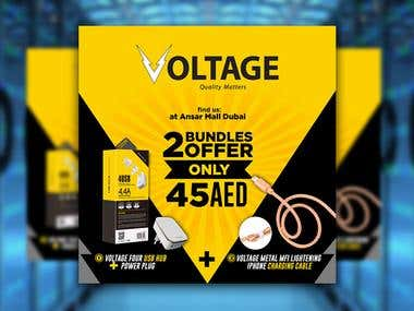 Design Facebook Banner for Voltage