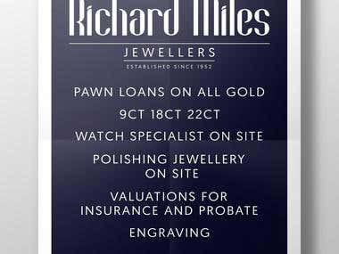 Flyer for Richard Miles Jewellers