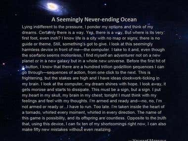 A Seemingly Never-ending Ocean