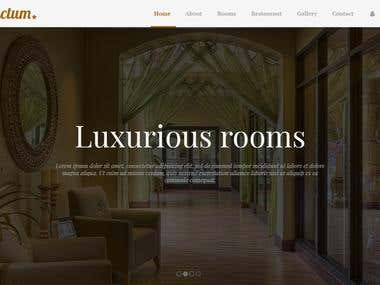 Hotel Reservation Portal Website