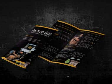 Active Abs / brochure + logo