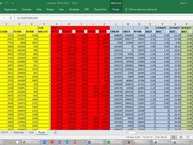Data Transfer spreadsheet