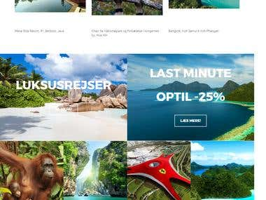 Travel Website developed on Magento2