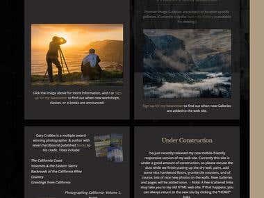 Photographer wordpress website